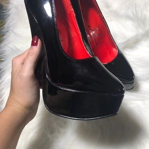 """Ellie Shoes - Ellie Patent Classic Heels 652-prince 6.5"""" H"""